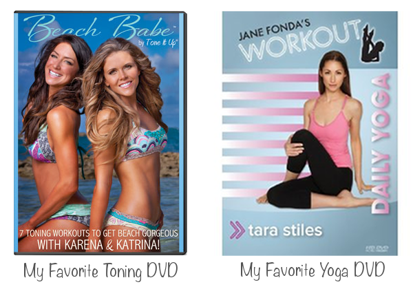 Tone It Up DVD image from here & Daily Yoga DVD image from here