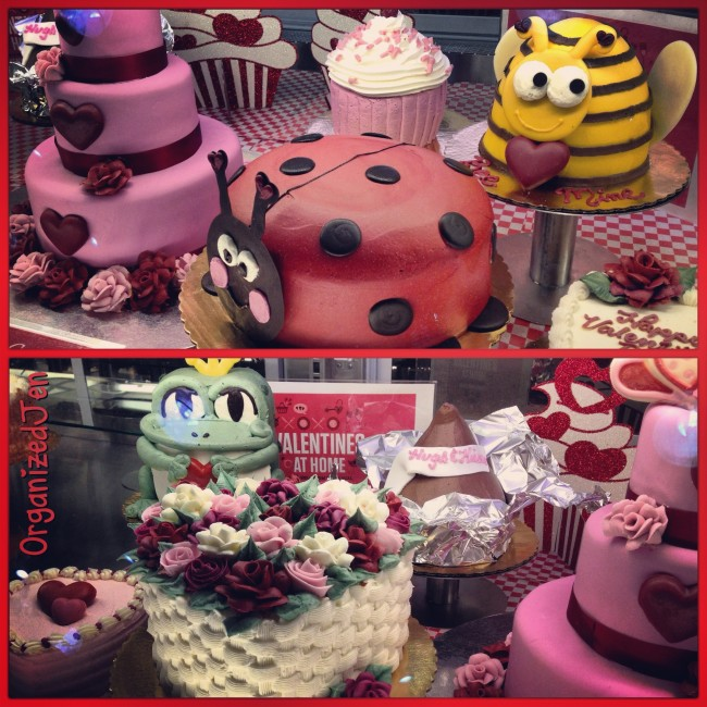 Check out these cute Valentine cakes at my local Whole Foods.