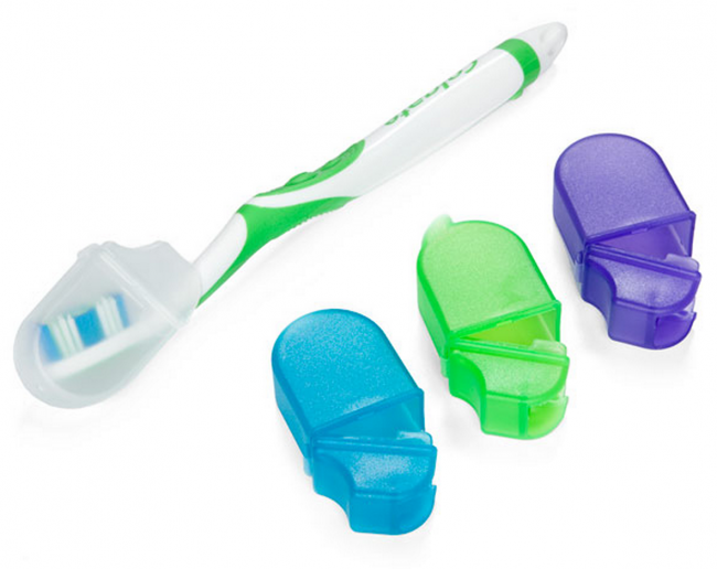 Toothbrush Covers with Microban® from The Container Store (photo source)