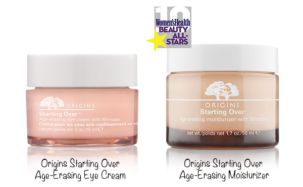 Origins Starting Over Age-Erasing Eye Cream (photo source) & Origins Starting Over Age-Erasing Moisturizer (photo source)