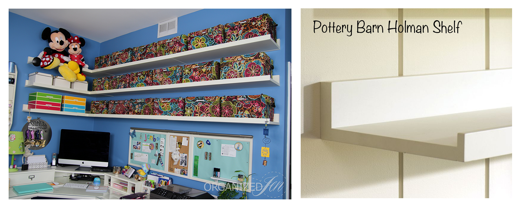 home office: wall storage organization - pretty neat living