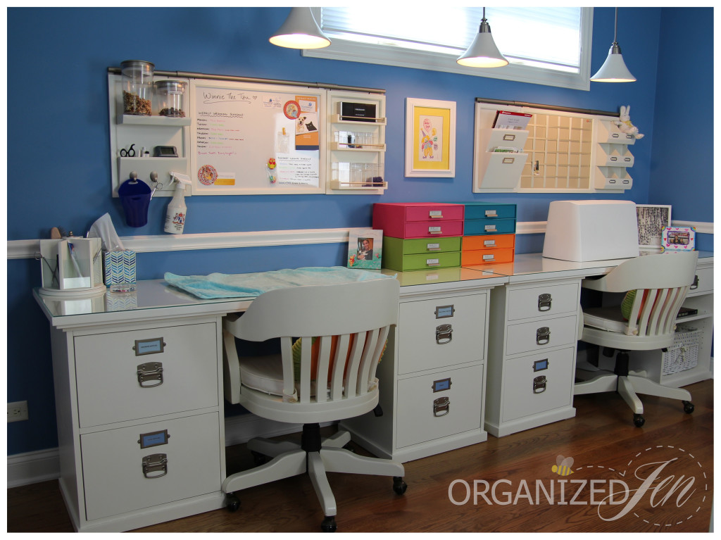 Home Office Dedicated Work Stations Pretty Neat Living