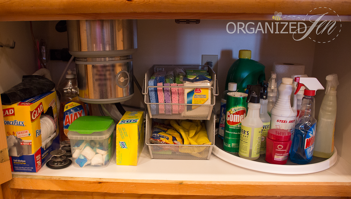 Under The Kitchen Sink Storage Under The Sink Organization Kitchen Series 2013 Pretty Neat Living