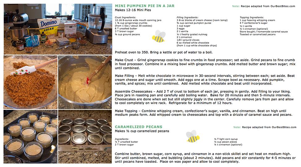 Mini Pumpkin Cheesecake In A Jar Holiday Baking 2013