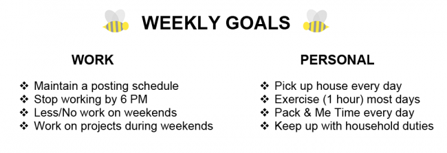 my weekly schedule