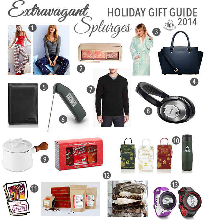 Extravagant Splurges Holiday Gift Guide 2014 Pretty