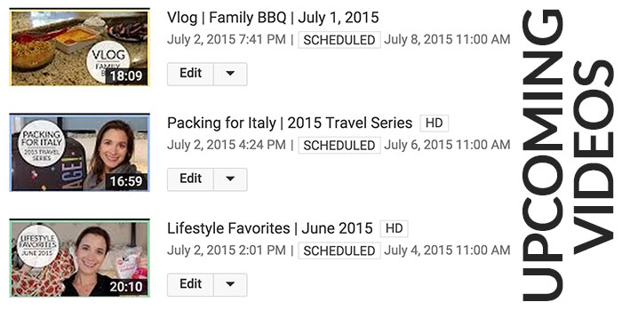 july vacation posting schedule