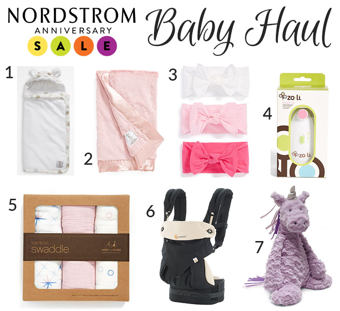 nordstrom anniversay sale baby haul