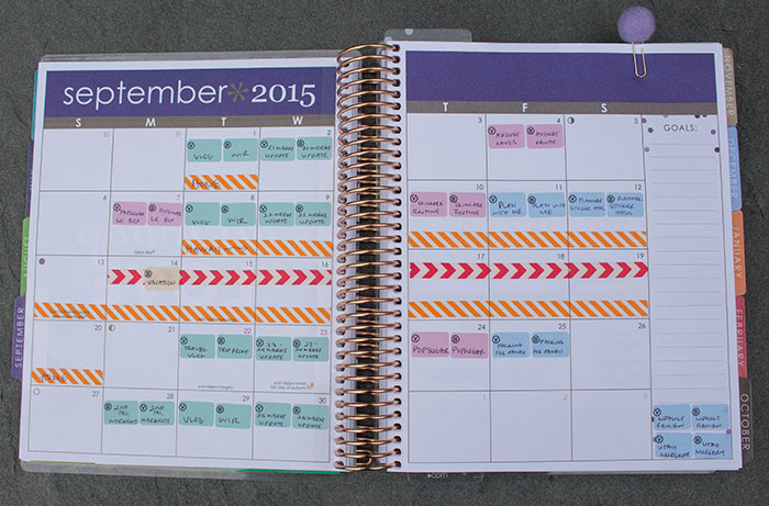 plan with me september 2015 ECLP monthly spread