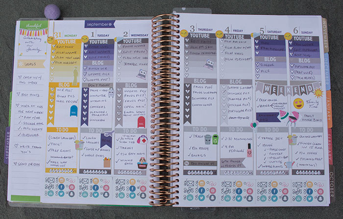 plan with me september 2015 eclp weekly spread