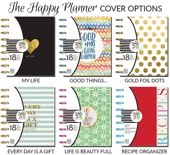 happy planner cover options