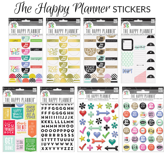 happy planner stickers 2015