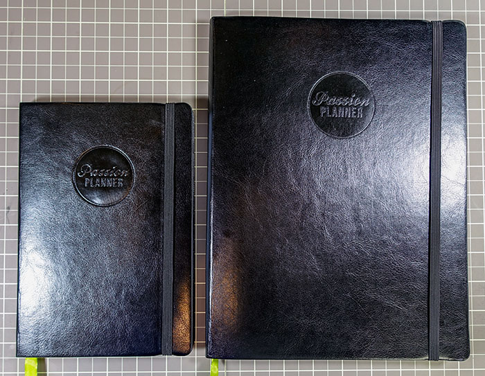 passion planner size comparison 2015