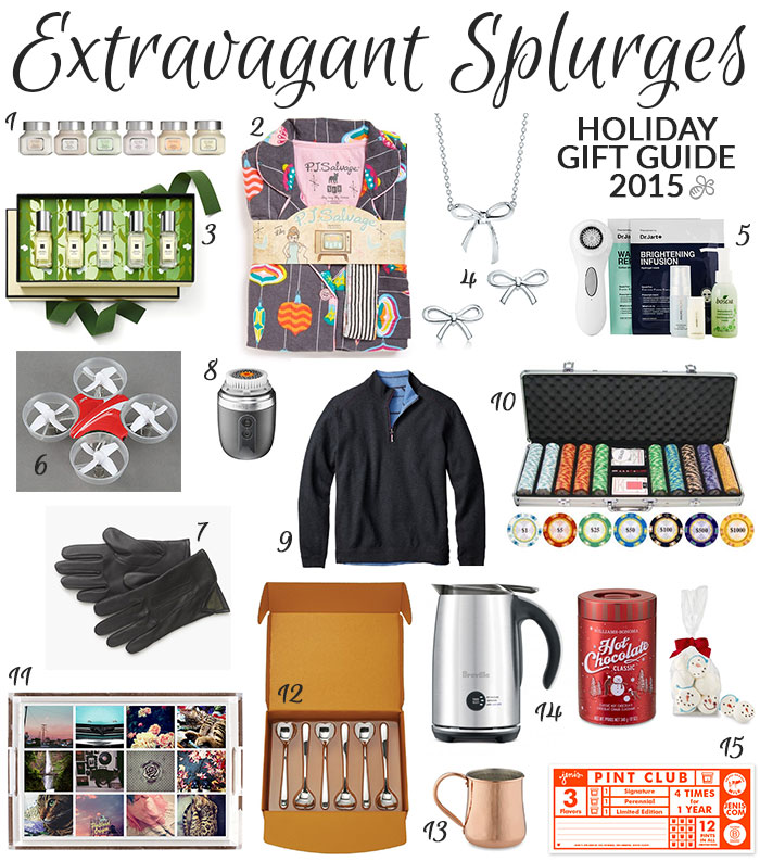 holiday gift guide 2015 extravagant splurges