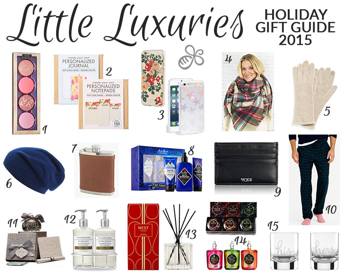 holiday gift guide 2015 little luxuries