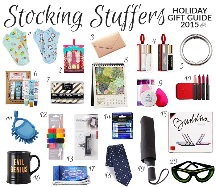 holiday gift guide 2015 stocking stuffers