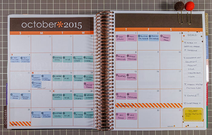 october 2015 planner overview month