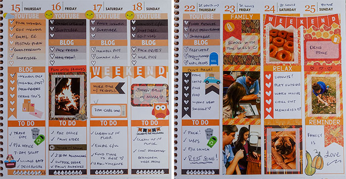 polaroid zip planner decoration