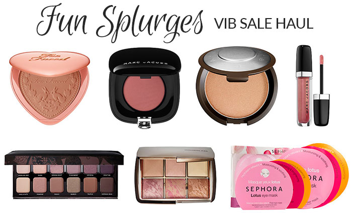 sephora vib sale beauty haul fall 2015 fun splurges