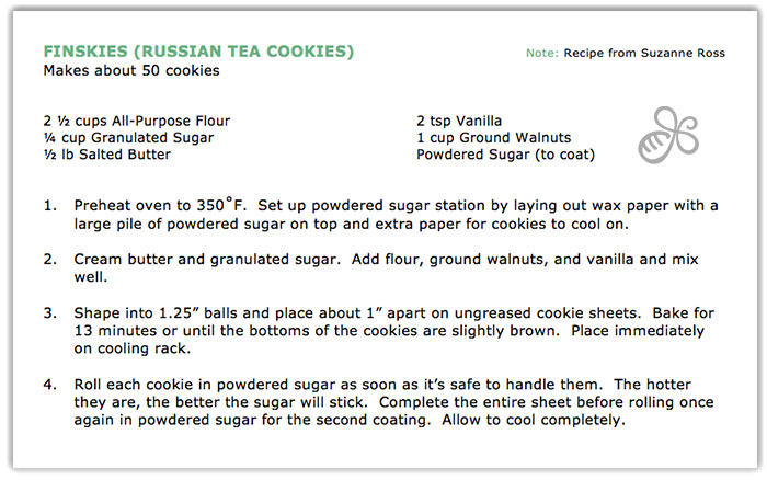 finskies russian tea cookies recipe