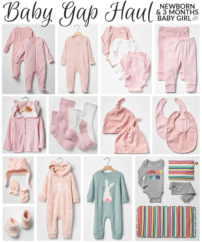 baby clothing haul newborn girl baby gap december 2015