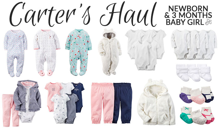baby clothing haul newborn girl carter's december 2015