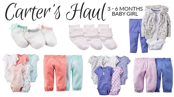 baby girl carter's haul 3 months 2016