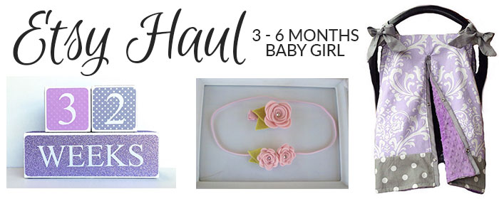 baby girl etsy haul 3 month old 2016
