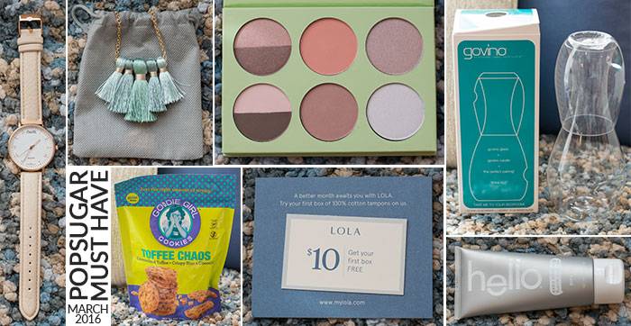 march 2016 popsugar must have box contents