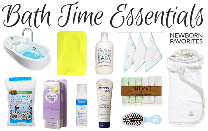 bath time essentials newborn 2016