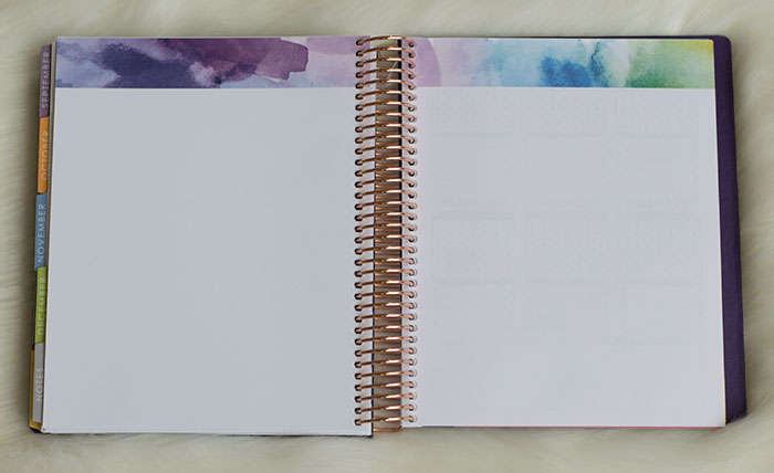 erin condren life planner 2016-17 colorful notes section