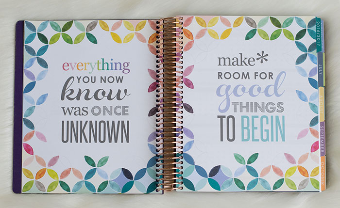 erin condren life planner 2016-17 colorful quotes