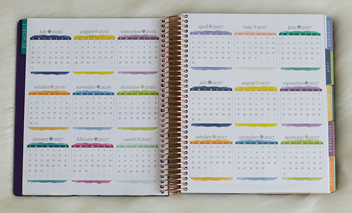 erin condren life planner 2016-17 colorful year at a glance