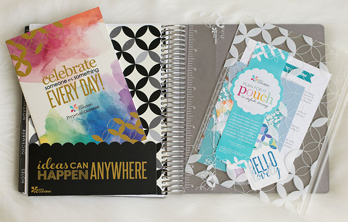 erin condren life planner 2016-17 neutral folder pouch