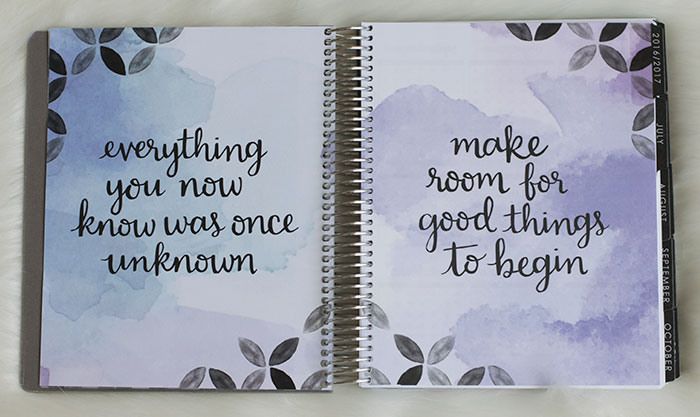 erin condren life planner 2016-17 neutral quotes