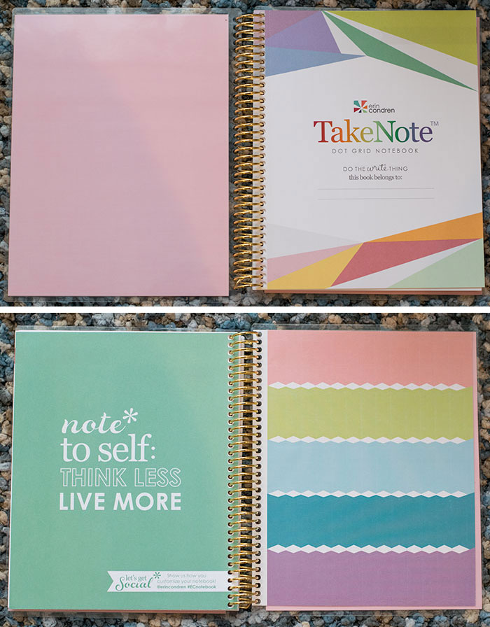 erin condren notebook details 2016