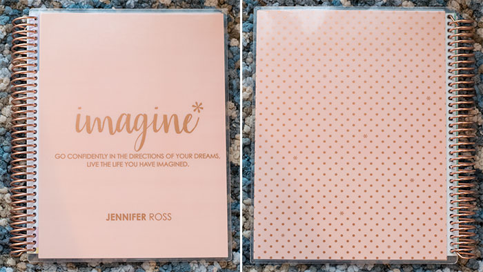 erin condren notebook rose gold 2016