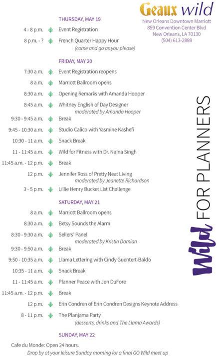geaux wild schedule 2016