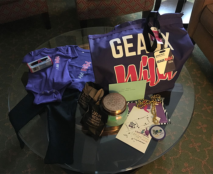 geaux wild welcome gifts 2016