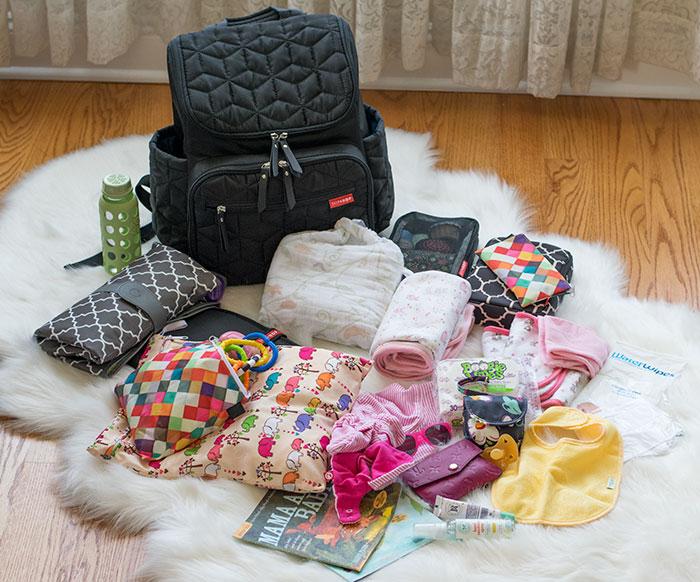 diaper bag content 2016