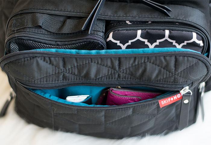 diaper bag small pocket organization 2016