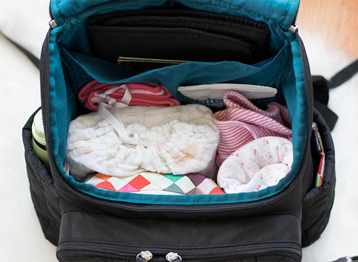 diaper bag vertical organization 2016