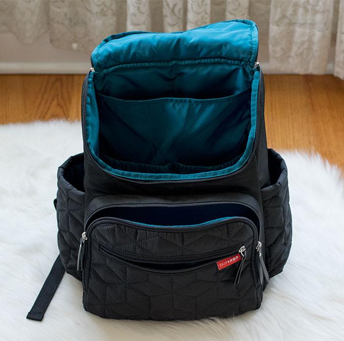 skip hop forma diaper backpack interior 2016