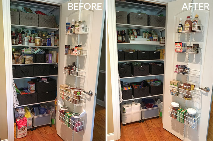pantry clean-up before and after 2016