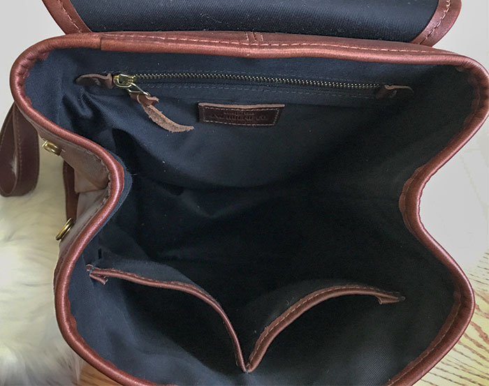 j.w. hulme co. legacy backpack interior