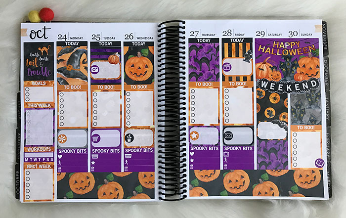 plan with me erin condren life planner halloween 2016