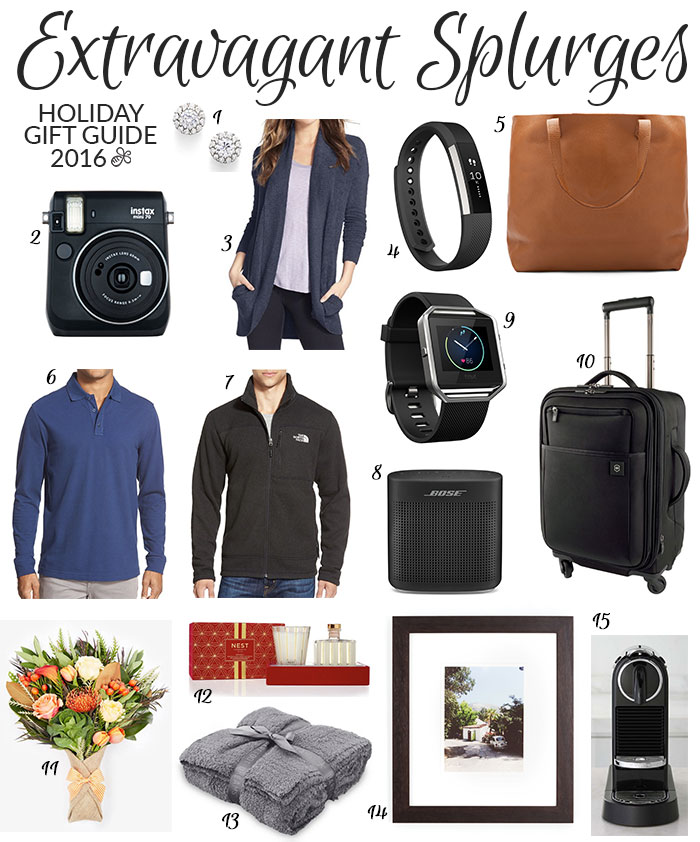 extravagant splurges holiday gift guide 2016