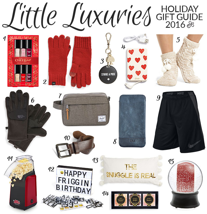 holiday gift guide 2016 little luxuries