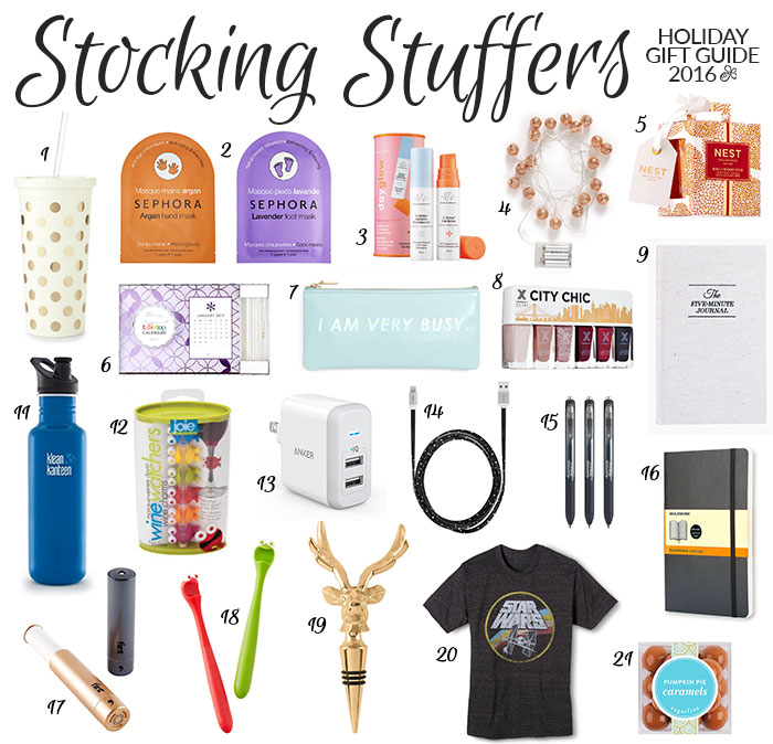 stocking stuffers holiday gift guide 2016