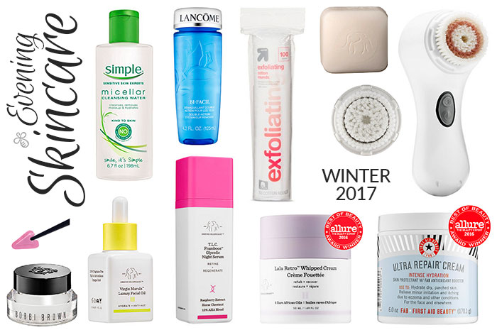 evening skincare winter 2017